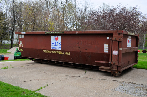 15 cubic yard refuse container -- empty.