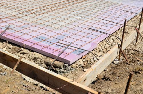 Detail of slab prep. Ready for concrete.