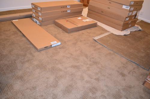 The bedroom carpet is in!