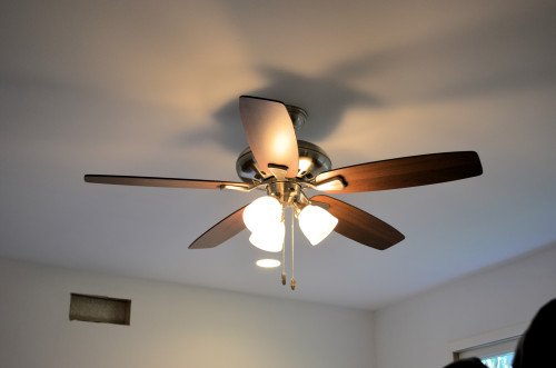 Bedroom ceiling fan.