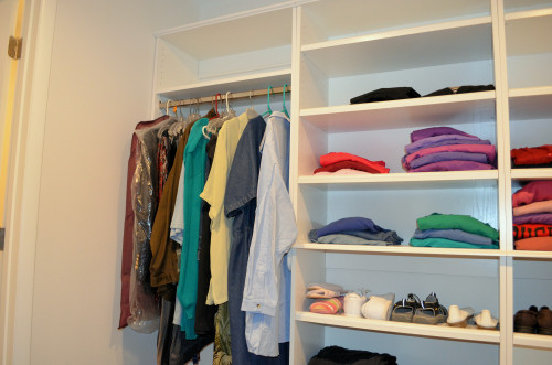 Closet south wall.
